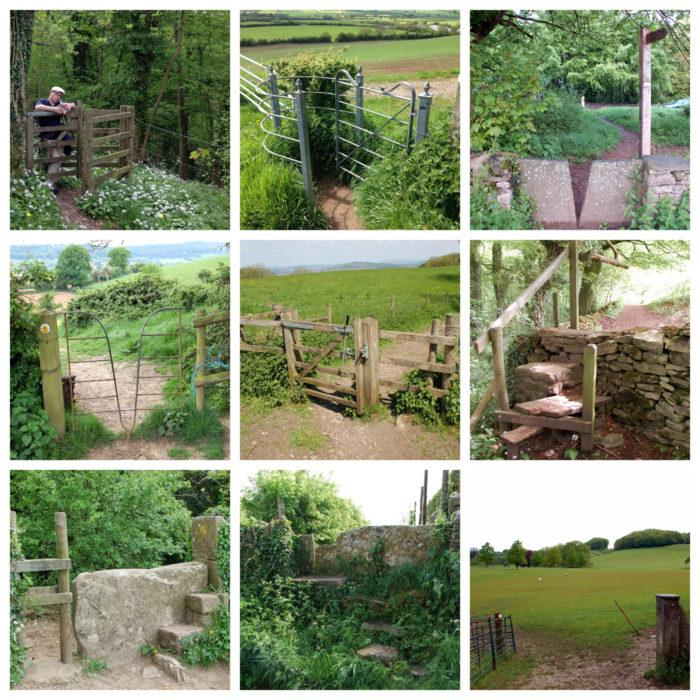 Collage verschiedener Zaunübertritte