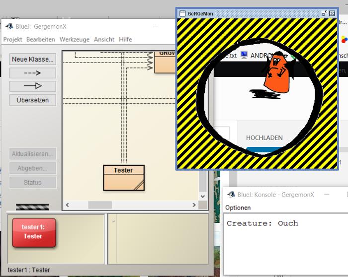 Screenshot von Geisterlupe mit Desktop-Hintergrund