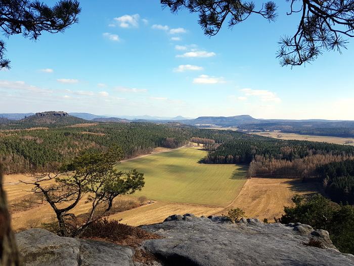 Landschaft:: Ausblick nach Böhmen
