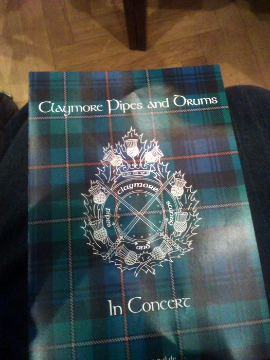 Claymore Pipes and Drums Programmheft