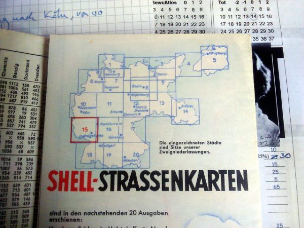Shell-Straßenkarte mit Ostpreußen