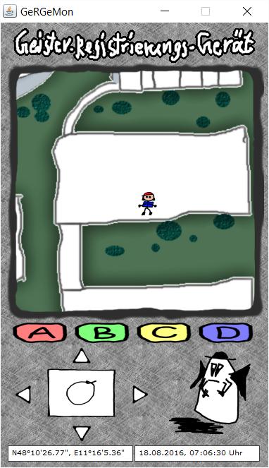 Oberfläche des Pokémon-Simulators GeRGeMon