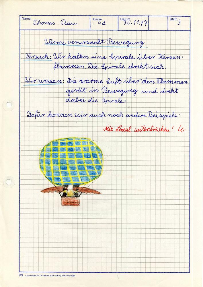 Aus meiner Schulzeit: Arbeitsblätter in der Grundschule – Lehrerzimmer
