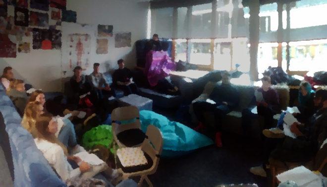 Unterricht im Kollegstufenzimmer