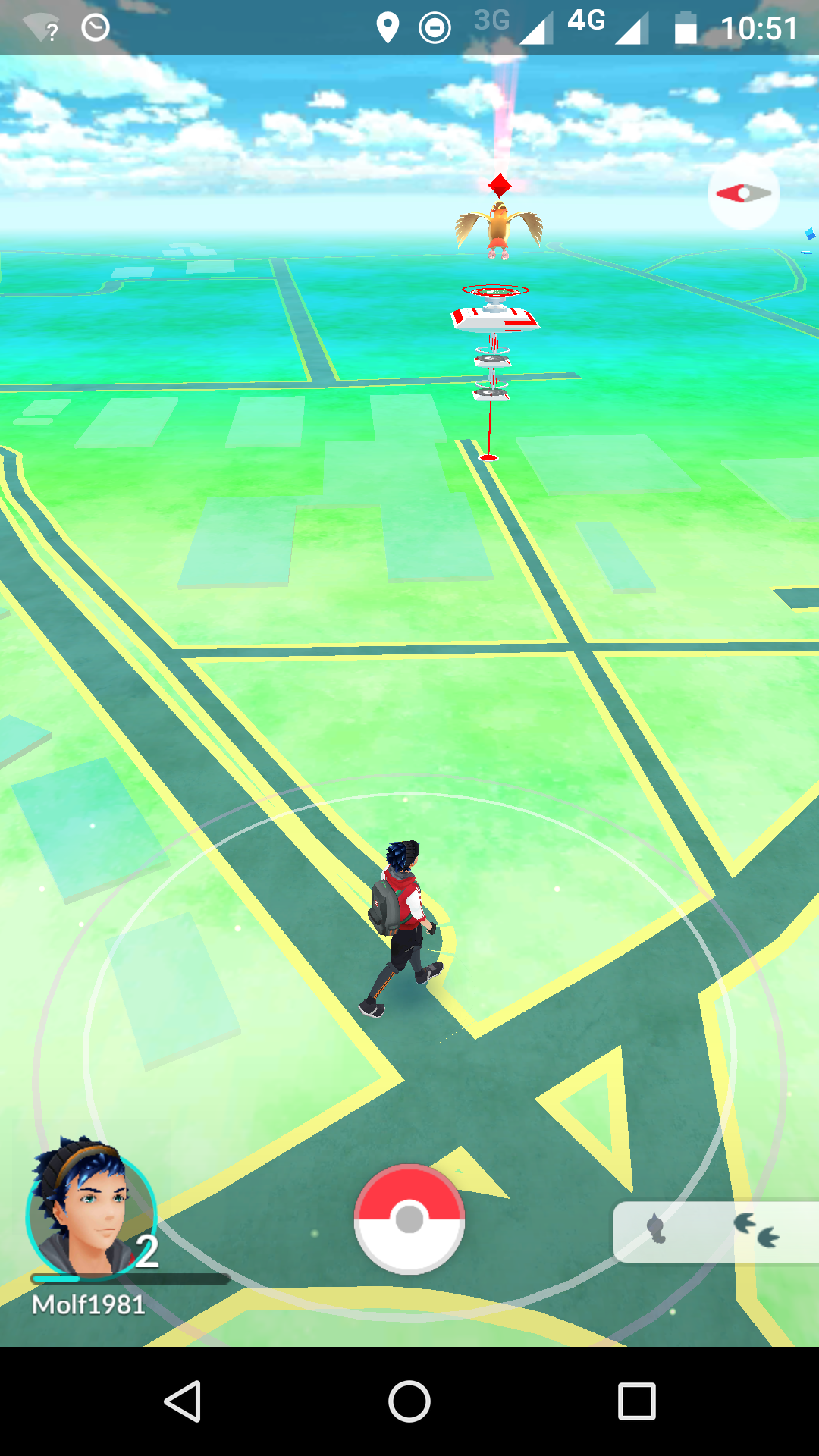 Pokemon-Go-Screenshot Schulgelände
