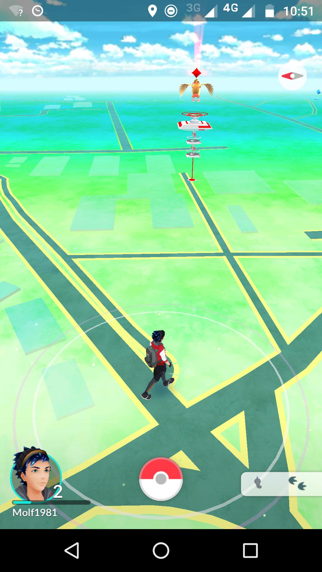 Pokemon-Go-Screenshot Schulgelände