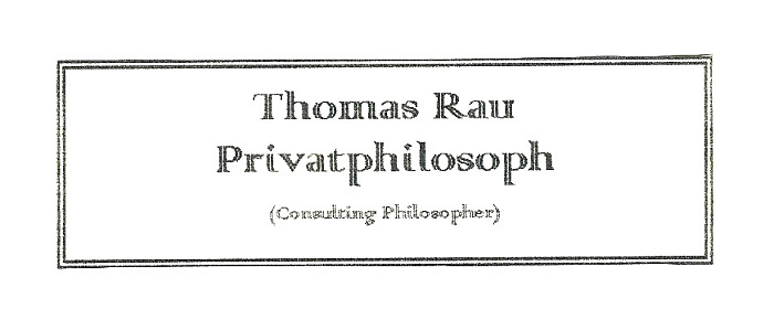 "Türschild ""Privatphilosoph"""