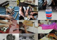 Collage verschiedener Schulprojekte