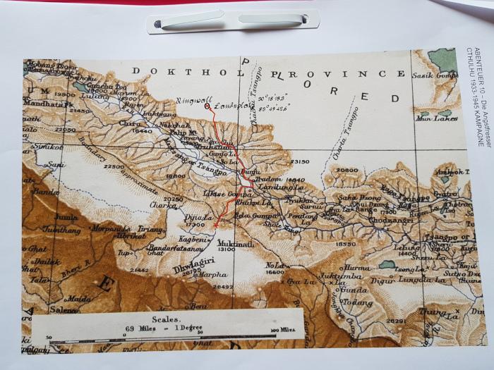 Alte Karte von Nepal