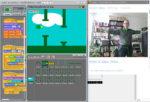 Screenshot Scratch mit Kinectsteuerung