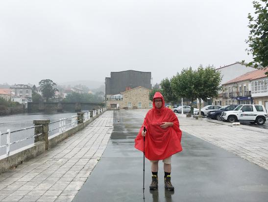 Wandern in Regenkleidung