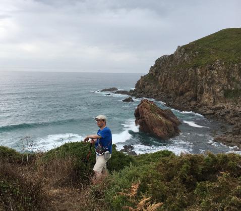 Wandern vor Küste