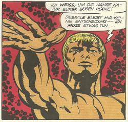 Panel aus dem Heft, ein goldener Mann