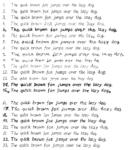 Schriftarten der Klasse 6a